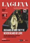 Teatre La Gleva Cartell · Richard III and they've never heard of love